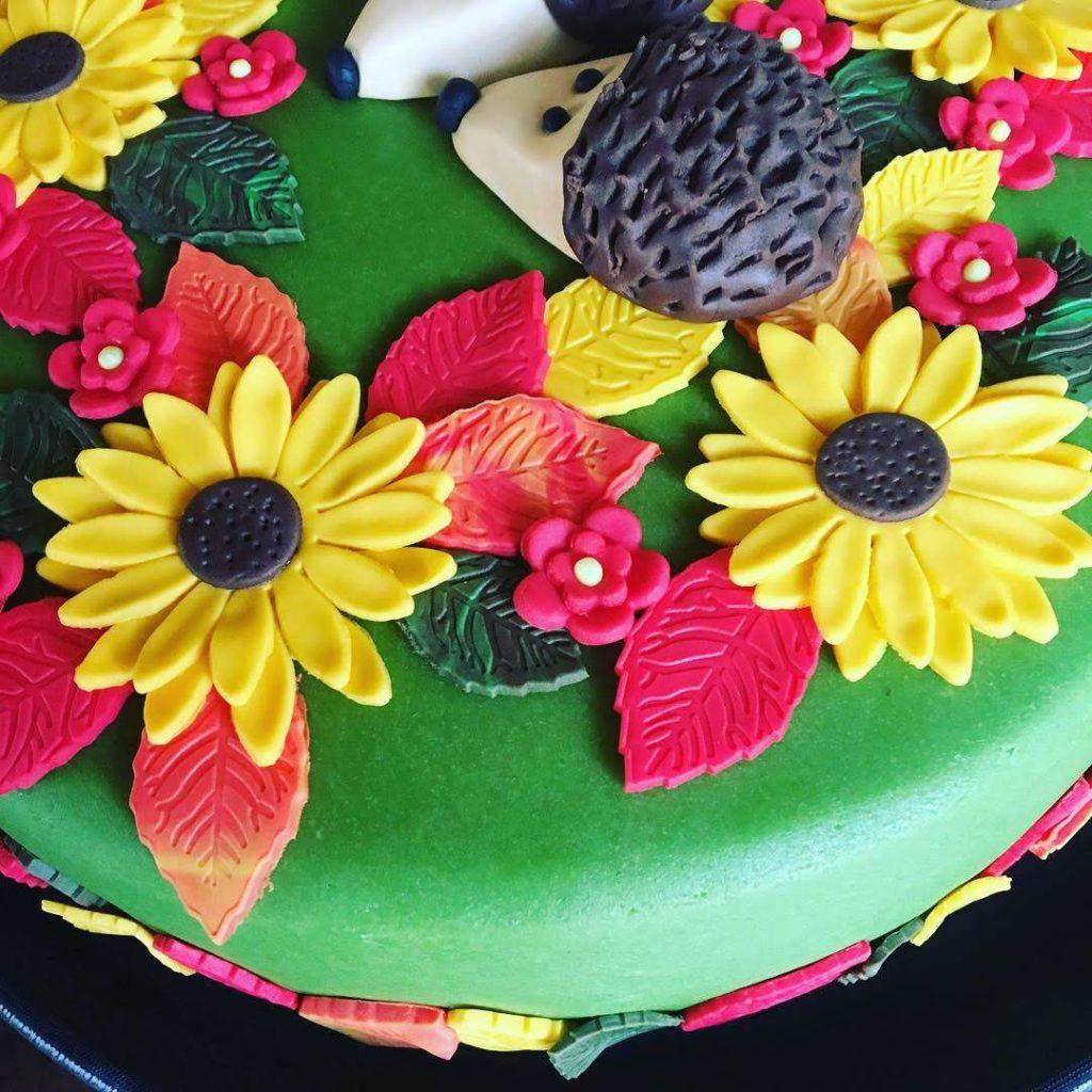 Herbst Torte Igel