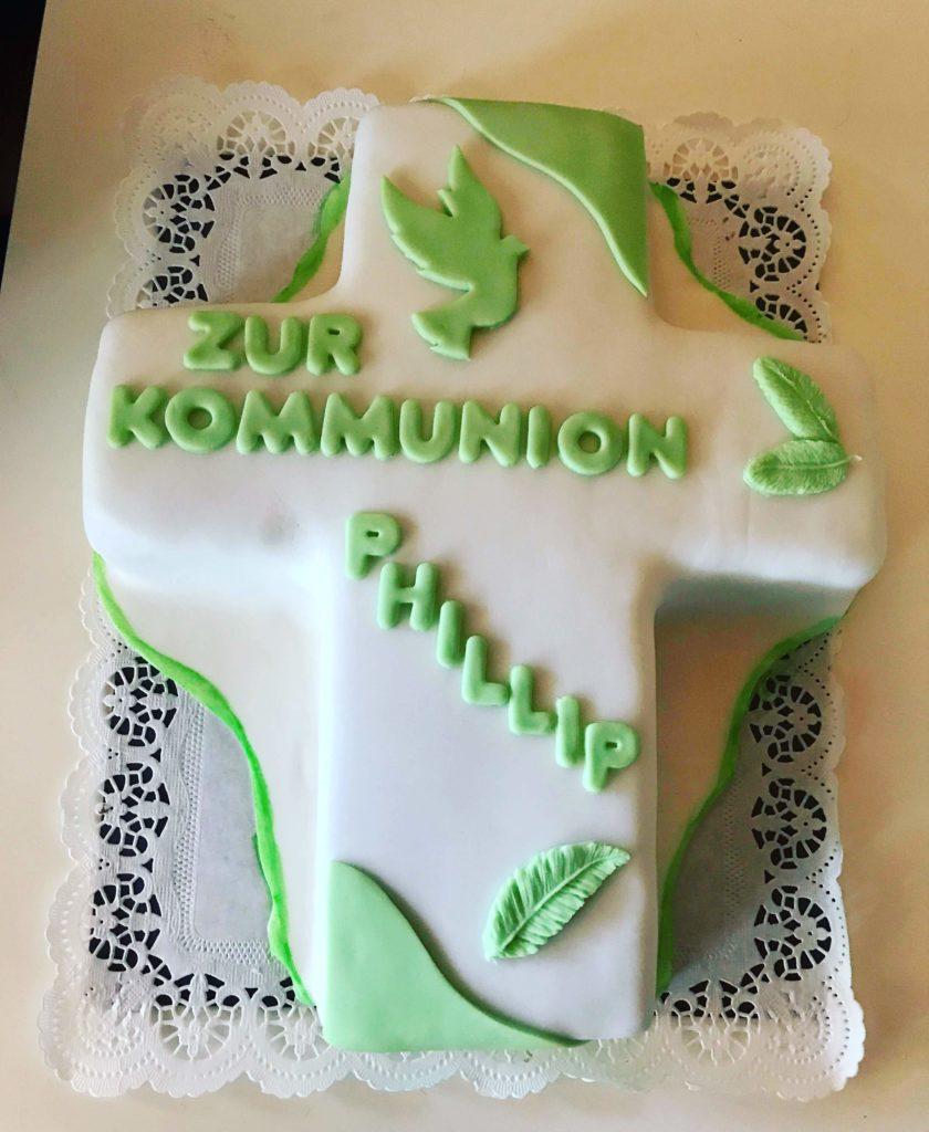 Kommunions Torte Kreuz