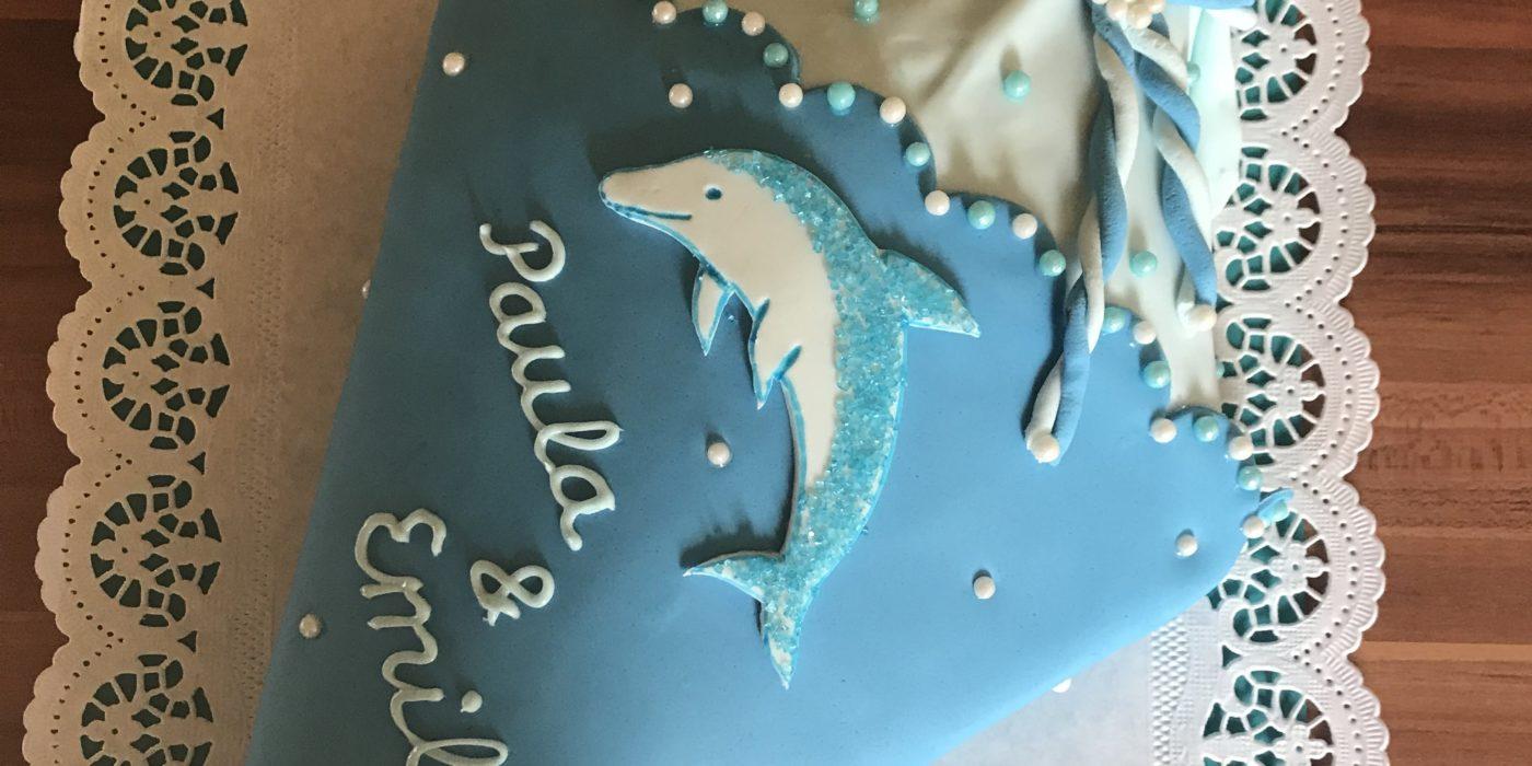Schultüten Torte Delfin