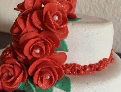 Rosen zum 60. Torte